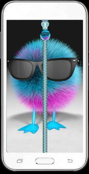 Hipster Fluffy Zipper   Unlock poster