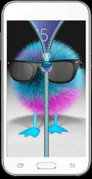 Hipster Fluffy Zipper   Unlock apk screenshot