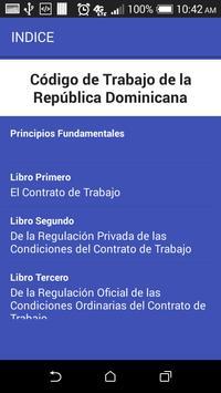 Código Laboral Dominicano screenshot 1