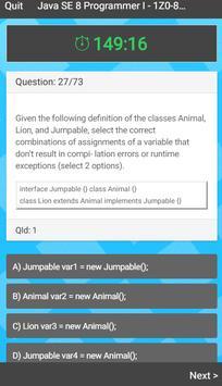 Java 8 Certification Exam poster