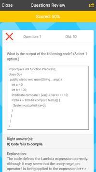 Java 8 Certification Exam screenshot 2