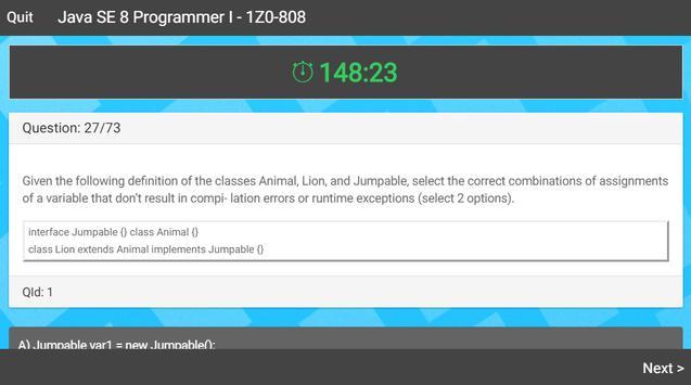 Java 8 Certification Exam screenshot 3
