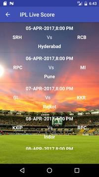 IPL Score and schedule apk screenshot