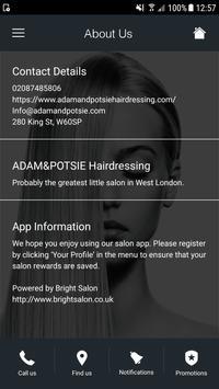ADAM&POTSIE Hairdressing screenshot 1