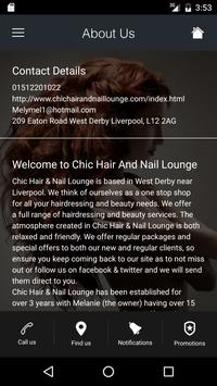 Chic Hair And Nail Lounge apk screenshot