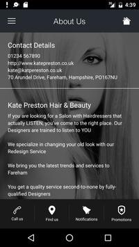 Kate Preston Hair & Beauty apk screenshot