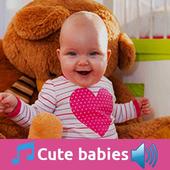 Cute babies icon