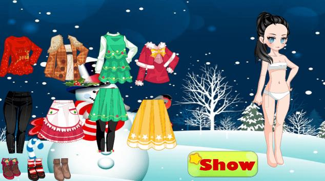 Christmas Dress up Girl Games poster