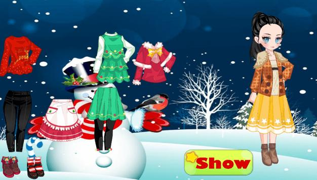 Christmas Dress up Girl Games apk screenshot