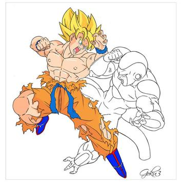 Coloring for goku Pro poster
