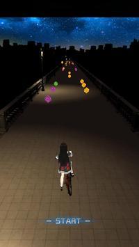 Running Girl-Night lights poster