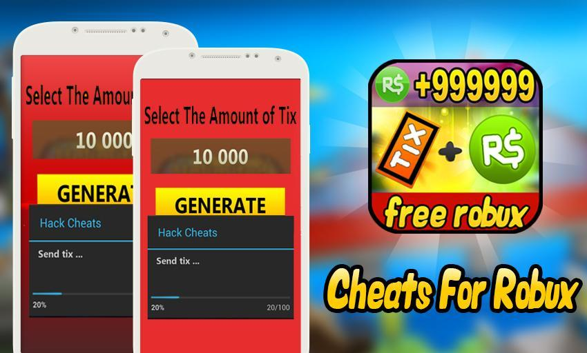 Cheats Free Robux And Tix For Roblox Prank For Android Apk Download