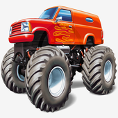Monster truck Racing 4 in1 icon