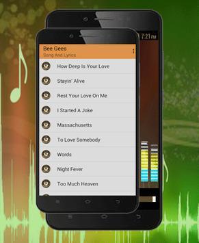 Bee Gees Songs-Lyrics how deep is your love apk screenshot