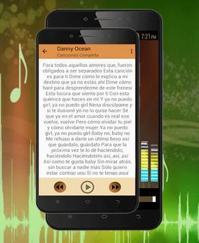 Danny Ocean Musica-Letras Me Rehúso y Dembaw 2018 apk screenshot