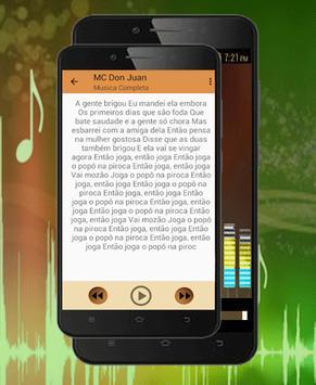 MC Don Juan-Amar, Amei e Se Eu Tiver Solteiro 2018 apk screenshot
