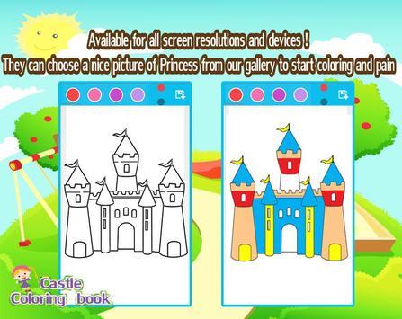 Coloring castle poster