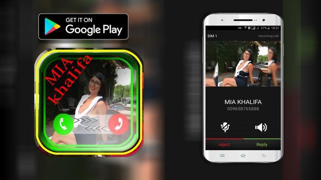 Mia Khalifa Calling you for free apk screenshot