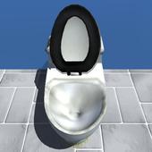 Money down the toilet icon