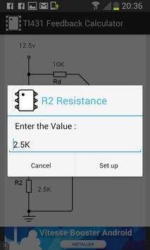 Feedback Calculator (TL431) apk screenshot