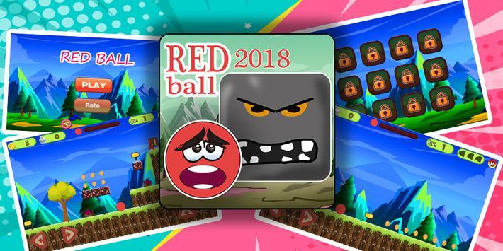New Red Ball Adevnture 2018 screenshot 1