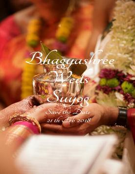 Bhagyashree wed's Suyog poster