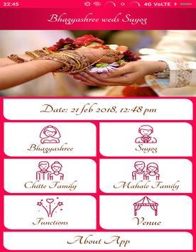 Bhagyashree wed's Suyog screenshot 1