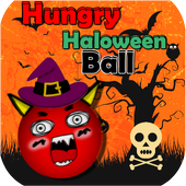Hungry haloween Ball icon