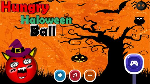Hungry haloween Ball poster