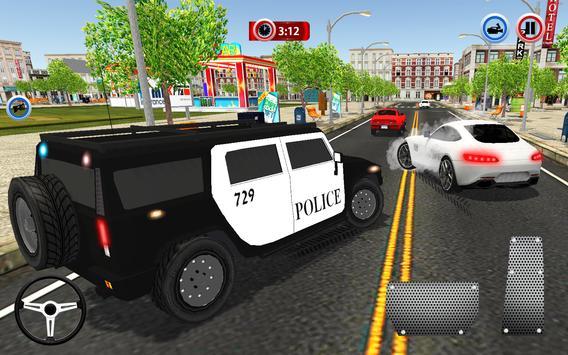 Police Car Chase Crime City Driving Simulator 3D screenshot 1