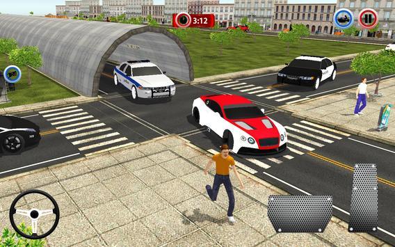Police Car Chase Crime City Driving Simulator 3D screenshot 2