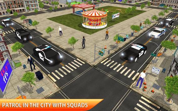 Police Car Chase Crime City Driving Simulator 3D screenshot 4