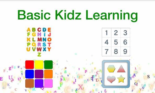 Basic Kidz Learning screenshot 1