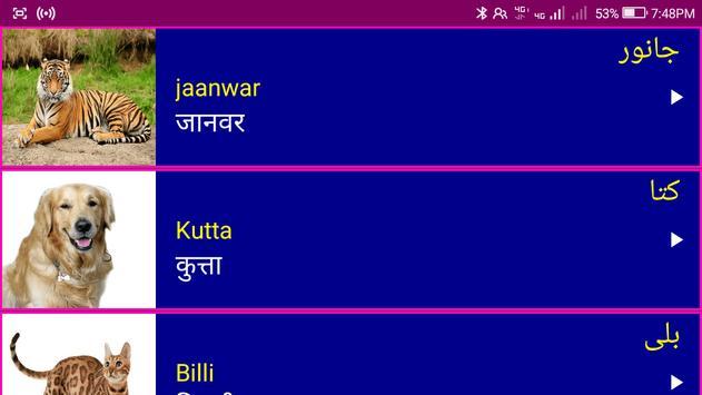 Learn Urdu From Hindi screenshot 9