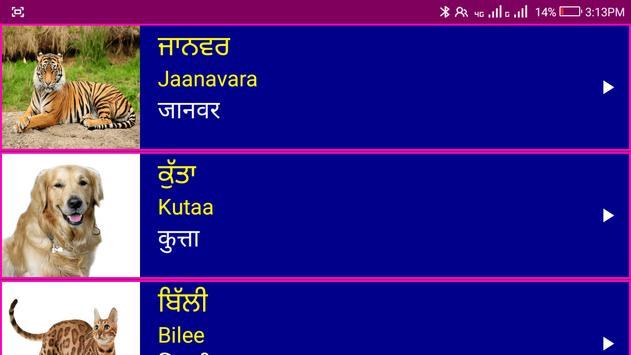 पंजाबी सीखो - Learn Spoken Punjabi From Hindi screenshot 10