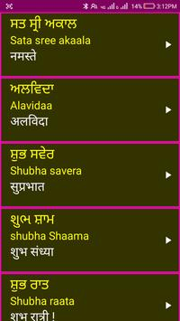 Learn Punjabi From Hindi screenshot 3