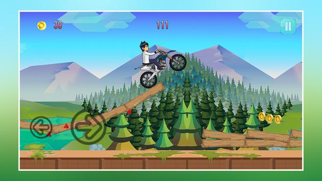 Crazy Jungle Ben Bike Racing screenshot 10