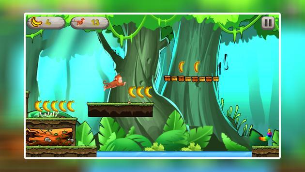 Monkey Jungle Run - Endless Banana Adventure Game screenshot 6