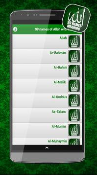 99 names of Allah with Meaning screenshot 1