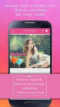 Photo Mixer - Photo Blender - Mirror Photo Editor poster