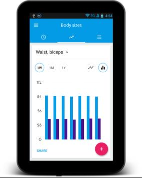 body measurement tracker apk screenshot