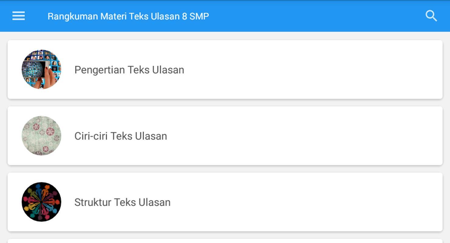 Rangkuman Materi Teks Ulasan Kelas 8 Smp For Android Apk Download