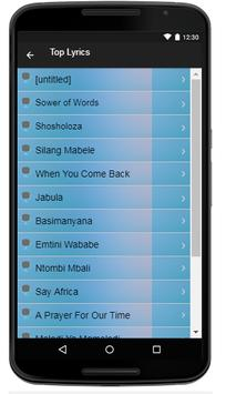 Vusi Mahlasela Song & Lyrics apk screenshot