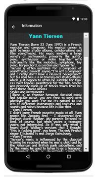 Yann Tiersen Song & Lyrics apk screenshot