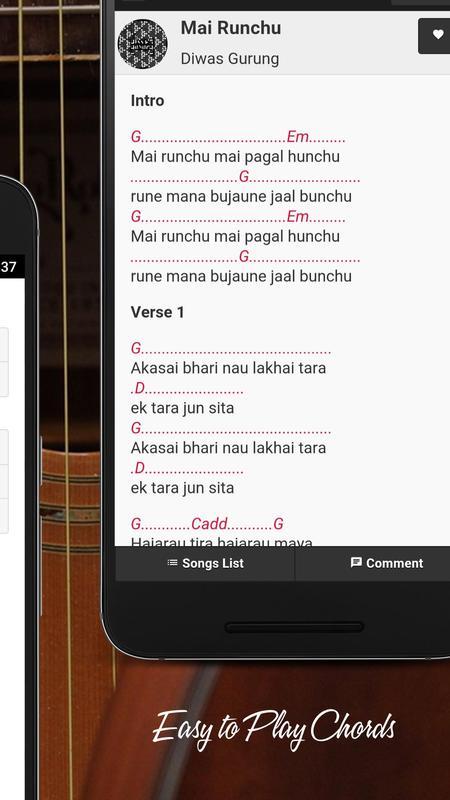 Chordpedia Nepali Songs Chord Apk Download Free Music Audio App
