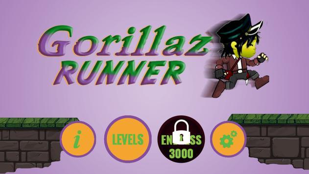 Gorillaz Runner poster