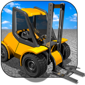 Police forklift icon
