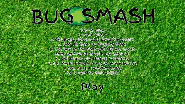 Bug Smash - Tick poster