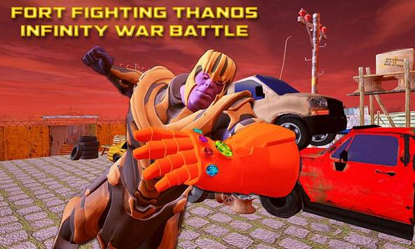 Fort Fighting Thanos Infinity War Battle poster