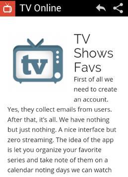 TV Online screenshot 2